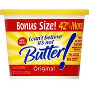 I Can't Believe It's Not Butter Vegetable Oil Spread, 58%, Original, Bonus Size