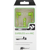 Mobilessentials Earbuds, with Mic