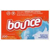 Bounce Fabric Softener Dryer Sheets, Fresh Linen,