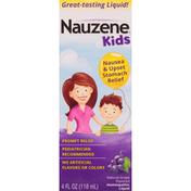NAUZENE Nausea & Upset Stomach Relief, Natural Grape Flavored, Homeopathic Liquid
