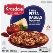 Krasdale Pizza Bagels, Pepperoni, Mini