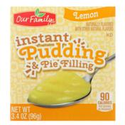 Our Family Lemon Instant Pudding & Pie Filling