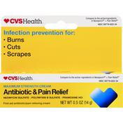 CVS Health Antibiotic & Pain Relief, Maximum Strength, Cream