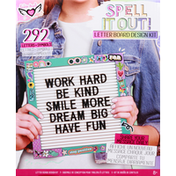 Fashion Angels Letter Board Design Kit, Spell It Out, 8+