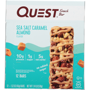 Quest Snack Bar, Sea Salt Caramel Almond Flavor