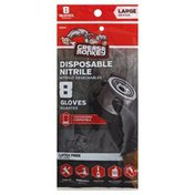 Grease Monkey Gloves, Disposable Nitrile, Large
