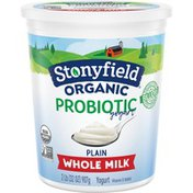 Stonyfield® Organic Plain Whole Milk Probiotic Yogurt
