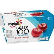 Yoplait Greek 100 Calories Black Cherry Fat Free Yogurt
