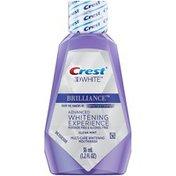 Crest Brilliance Alcohol Free Whitening Mouthwash, Clean Mint