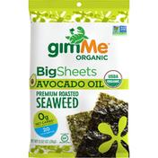 gimMe Seaweed, Premium Roasted, Big Sheets, Avocado Oil