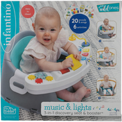 Infantino Discovery Seat & Booster, 3-in-1, Music & Lights