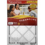 NaturalAire Air Cleaning Filter, Microparticle, 14 x 20 x 1
