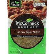 McCormick Gourmet™ Tuscan Beef Stew Recipe & Seasoning Mix