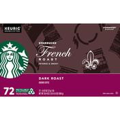 Starbucks French Roast Dark K-Cup Pods Ground Coffee