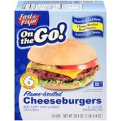 Fast Fixin On the Go! Flame-Broiled Cheeseburgers
