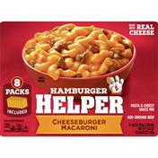 Hamburger Helper Cheeseburger Macaroni Meal, 8 Count