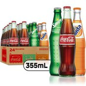 Coca-Cola Mexican Coke Variety Fiesta Pack (Coke, Sprite, Fanta) Soda Soft Drinks, Cane Sugar