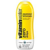 Glaceau Vitaminwater Zero Squeezed Lemonade Vitaminwater Zero Drops