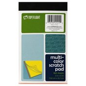 Top Flight Scratch Pad, Multi-Color, 180 Sheets