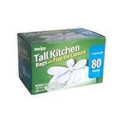 Meijer 13 Gallon Tall Kitchen Trash Bags With Flap Tie