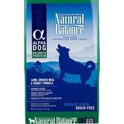 Natural Balance Alpha Dog Natural Protein Lamb Chicken Meal & Rabbit Grain-Free Dry Dog Food