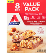 Atkins Protein Meal Bar, Chocolate Almond Caramel Bar, Value Pack, 8 Pack