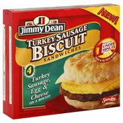 Jimmy Dean Sandwiches, Biscuit, Turkey Sausage