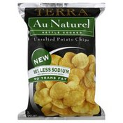 Terra Potato Chips, Unsalted, Au Naturel, Kettle Cooked