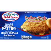 Bell & Evans Chicken Patties, Italian Style with Mozzarella, Breaded