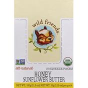 Wild Friends Sunflower Butter, Squeeze Pack, Honey