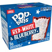 Kellogg's Pop-Tarts Toaster Pastries, 4th of July Breakfast Foods, Baked in the USA, Red, White and Blueberry