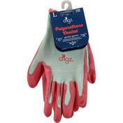 Digz Garden Gloves, Polyurethane Coated, Large