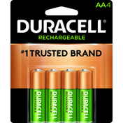 Duracell Battery, NiMH, AA, 4 Pack