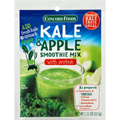 Concord Foods Smoothie Mix, Kale & Apple, with Protein