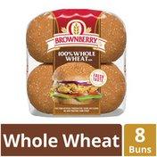 Brownberry Whole Grains 100% Whole Wheat Sandwich Buns