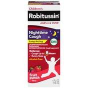 Children's Robitussin Children's DM Nighttime Long-Acting Fruit Punch Liquid Antihistamine/Cough Supressant