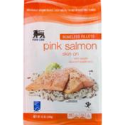 Food Lion Fillets, Skin On, Boneless, Pink Salmon, Pouch