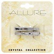 Allure Clip, Crystal, 2 Pieces, Card