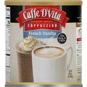 Caffe D'Vita Instant Cappuccino, Premium, French Vanilla