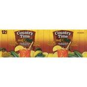 Country Time Half & Half, Lemon Juice, Green & Black Tea, 12 Pack