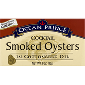 Ocean Prince Smoked Oysters, in Cottonseed Oil, Cocktail