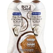 Softsoap Body Buff Wash, Coconut Scrub