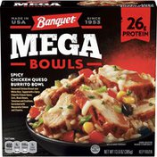 Banquet Mega Bowls Spicy Chicken Queso Burrito Bowl