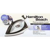 Hamilton Beach Nonstick Iron, Vertical Steam, Retractable Cord