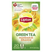 Lipton Green Tea Bags Mandarin Orange