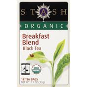 Stash Tea Black Tea, Organic Breakfast Blend