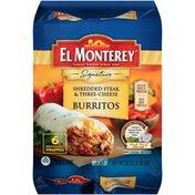 El Monterey Signature Shredded Steak & Three-Cheese Burritos