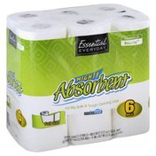 Essential Everyday Paper Towels, Mighty Absorbent, Full Size, Two-Ply