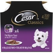 Cesar Classics Filet Mignon Flavor in Meaty Juices Wet Dog Food