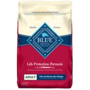 Blue Buffalo Life Protection Formula Natural Adult Dry Dog Food, Fish and Brown Rice